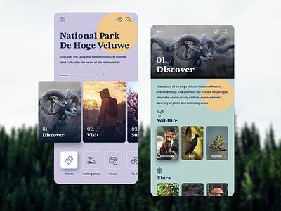 App design | National Park Hoge Veluwe ux sketchapp mobile ui mobile app web ui