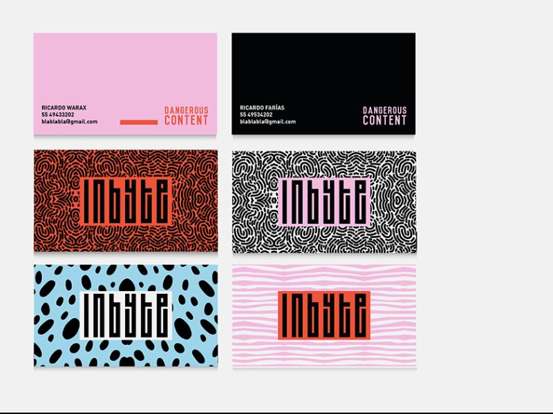 INBYTE color business cards logo branding