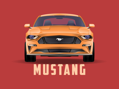 2019 FORD MUSTANG! graphicdesign design illustration design cars vector illustration ford