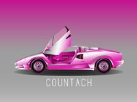 Pink Lambo Countach!