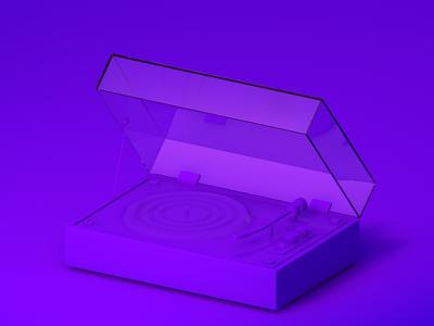 Violet turntable