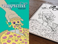 Perspective Podcast Cover Art Contest - Ep 100 Sketch