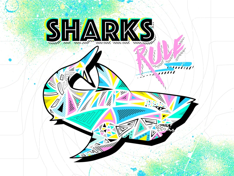 Sharky Retro graphic design graphic design studio branding typography vector illustrator illustration hand sketch hand crafted design austin texas adobe illustrator