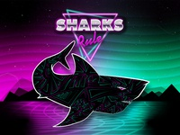 Sharky Retro Night Sky Version