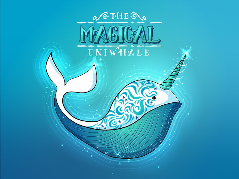 The Magical Uniwhale - Deep Sea Concept whale sea creatures digital illustration character illustration character concept sea creature daily doodle adobedesign graphic design graphic design studio branding typography vector illustrator illustration hand sketch hand crafted design austin texas adobe illustrator