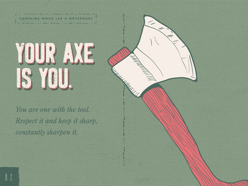 Your Axe Is You - Green retro design axe digital illustration daily doodle adobedesign graphic design graphic design studio branding typography vector illustrator illustration hand sketch design hand crafted austin texas adobe illustrator