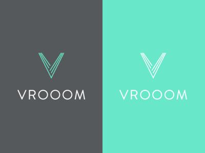 Vrooom - Driver-less Car Company Logo