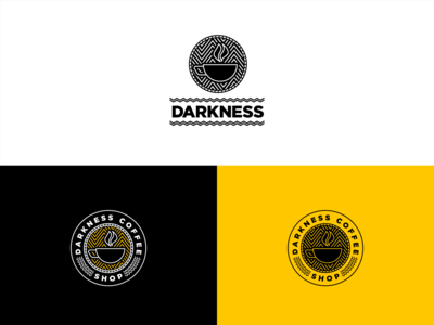 Darkness Coffee Shop Logo - Daily Logo Challenge Day 6