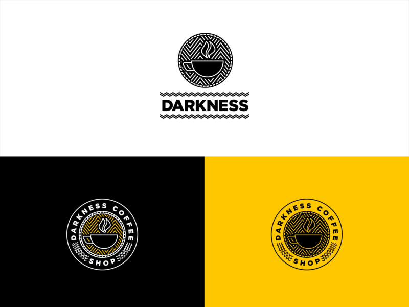 Darkness Coffee Shop Logo - Daily Logo Challenge Day 6 coffee shop branding coffee shop logo logodesign dailylogochallenge typography illustration branding adobe illustrator