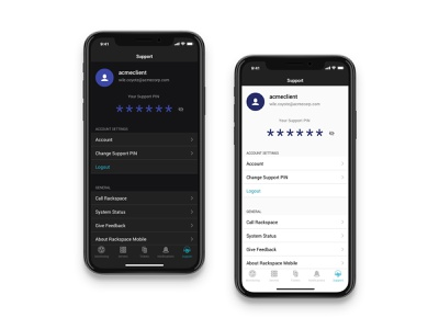 Introducing Dark Mode UI dark theme light mode dark mode cloud tech support settings product design design ios ux clean app ui mobile