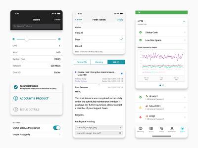 Mobile Design System mobile app design system components ui uiux styleguide elements simple clean cloud app ui kit sketch library