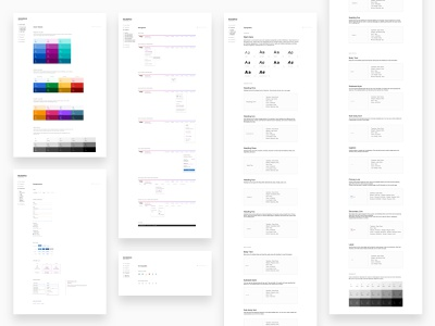 Rebrand Style Guide branding webdesign website ux ui components elements navigation typography color rebrand style guide