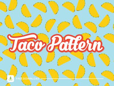 Taco Patrón download freebie illustrator seamless pattern food taco vector pattern