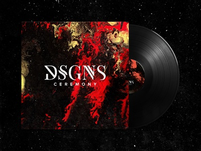 DSGNS Album Art painting abstract music booklet packaging disc lp cover cd art album