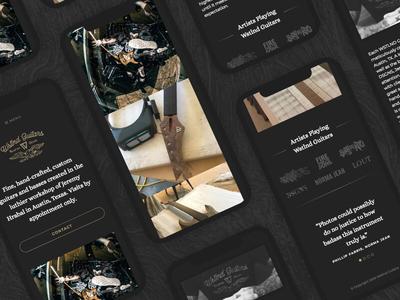 WSTLND Guitars Website redesign modern clean mobile website woodworking luthier guitars handmade custom