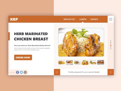 Restaurant Landing Page - Daily UI Challenge #003