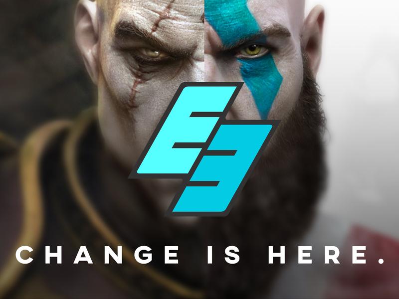 E3 Rebranding graphic design rebrand exercise e3 rebrand god of war games rebrand rebranding gaming e3