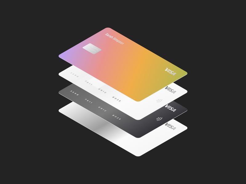 Smart Credit Cards clean ui banking figma illustration cards