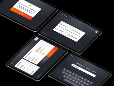 Post Office Application tablet app concept tracking app user experience figma interface technology application ui ux dashboard