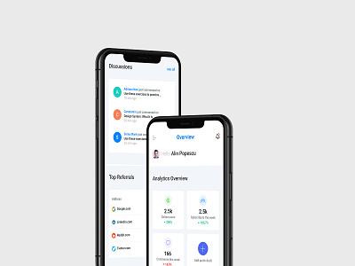 Site Analytics Dashboard blog dashboard interface mobileapp data technology design figma ux ui application