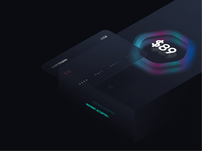 Banking Visual Concept iot banking ui illustration technology creative figma interface application