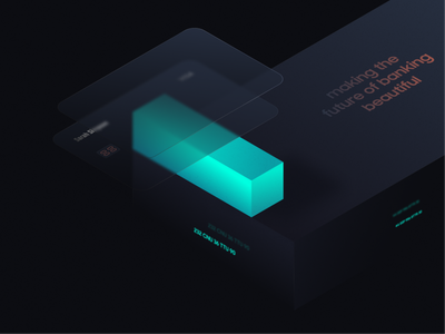 Banking Visual Concept 02 concept creative business technology ui application interface figma illustration banking iot