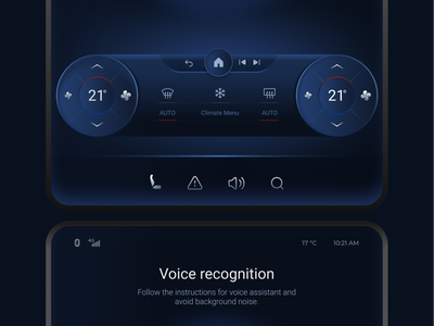 Car Dashboard Interface application screen ui user experience voice assistant auto interface dashboard ui car