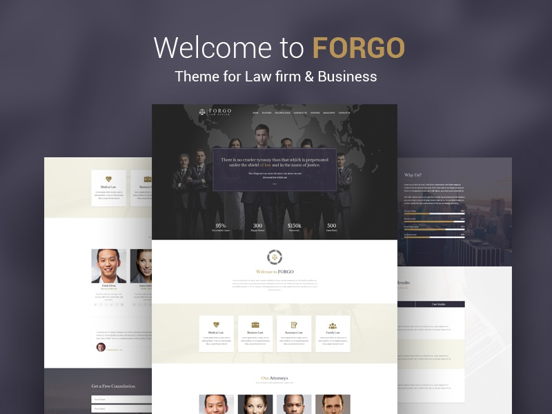 Forgo. Theme for Law firm & Business law business justice wordpress html themeforest psd creative onepage homepage