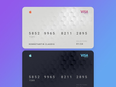 Apple Credit Card clean gradient graphicdesign creative banking credit card apple