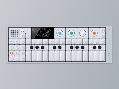 Op-1 Synthesizer Illustration illustration device figma interface dashboard synthesizer op-1