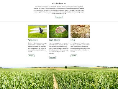 Deeside website web design design html responsive zurb foundation grass agricultural farming css website