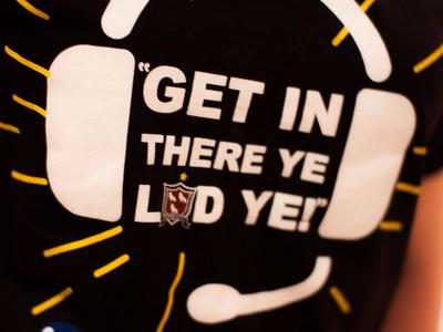 #GetInThereYeLadYe Charity Campaign black football sports sport illustration branding design charity tee clothing tshirt