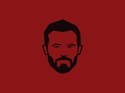 Football Illustration flat vector black red illustration soccer football manchester united man utd mufc