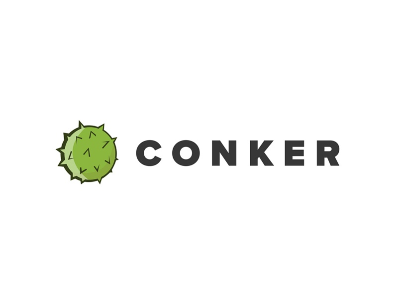 Conker nature green logo mark illustration branding logo chestnut conker