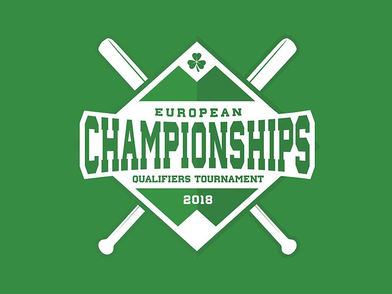 European Championship Qualifiers Tournament concept green irish branding sport brand logo baseball