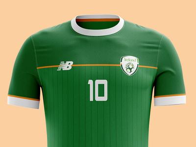 Republic of Ireland kit concept design football soccer republic of ireland eire ireland sport kit jersey clothing photoshop mockup