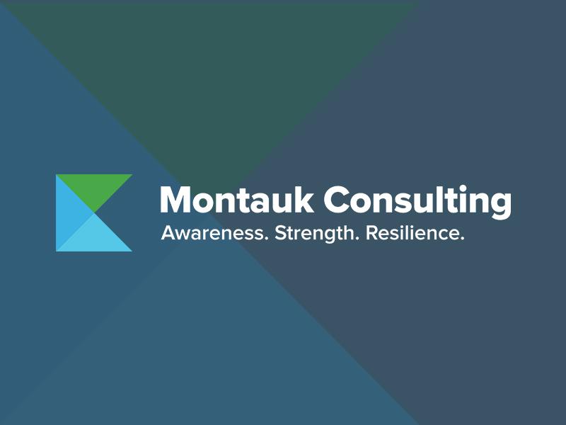 Montauk Consulting typography type brand branding logo yellow green design icon flat minimal