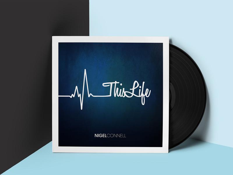 This Life sleeve white blue art cover graphic design illustration album artwork music design type lettering icon branding