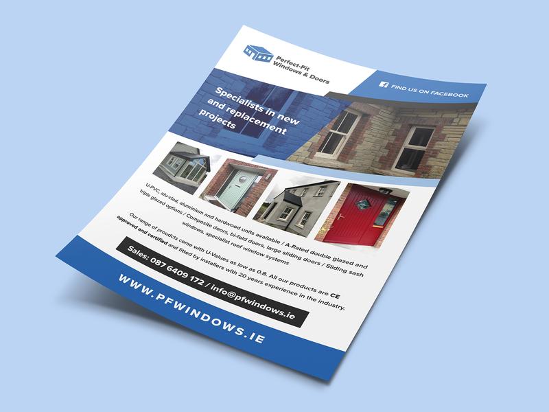 Perfect Fit Windows Doors Promo Flyer By Kelvin Farrell Dribbble