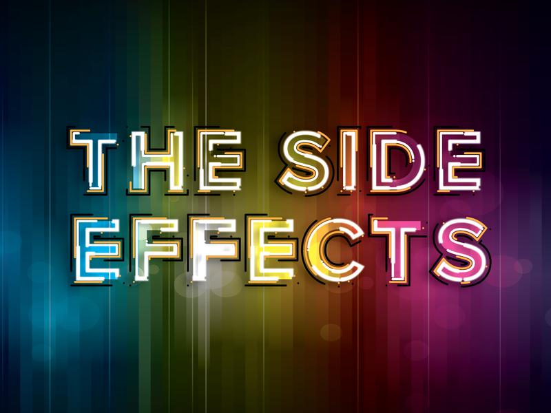 Side Effects effect graphic graphic design creative color art brand type art type transparent glow purple green yellow red blue design branding rainbow logo