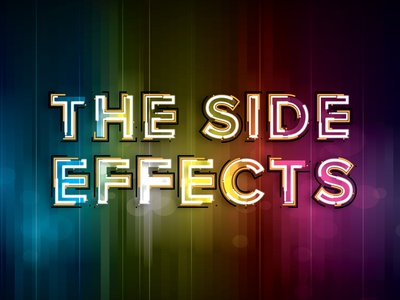 Side Effects effect graphic graphic design creative color art brand type art type transparent glow purple green yellow red blue design branding rainbow logo