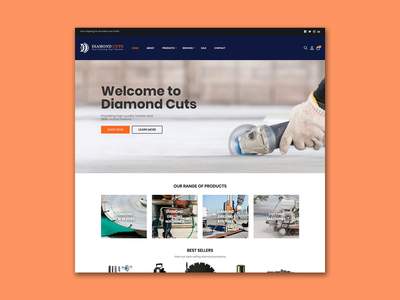 DiamondCuts.ie webdesign web video html css store shop freelance web design design orange wordpress blue e-commerce website design website