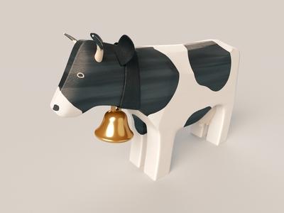 Swiss wooden cow