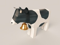 Swiss wooden cow