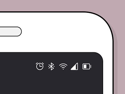 Status Bar Icons ui user interface icon design icon pack icon set icon family iconography icons icon