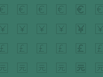 Currency Icons tools ui user interface icon design icon pack icon set icon family iconography icons icon