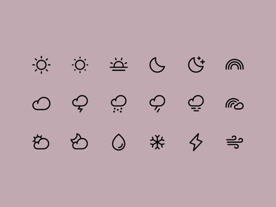 Weather Icons tools ui user interface icon design icon pack icon set icon family iconography icons icon