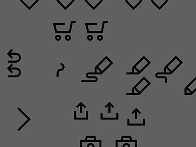 Off-Canvas Screenshot No. 1 drawing area canvas artboard grey undo arrows cart pen line icons