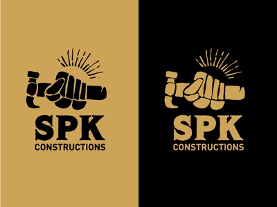 SPK Construction unused logo