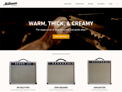 Milkman Sound Homepage ui website web design interface shop e-commerce landing page shopify home page homepage